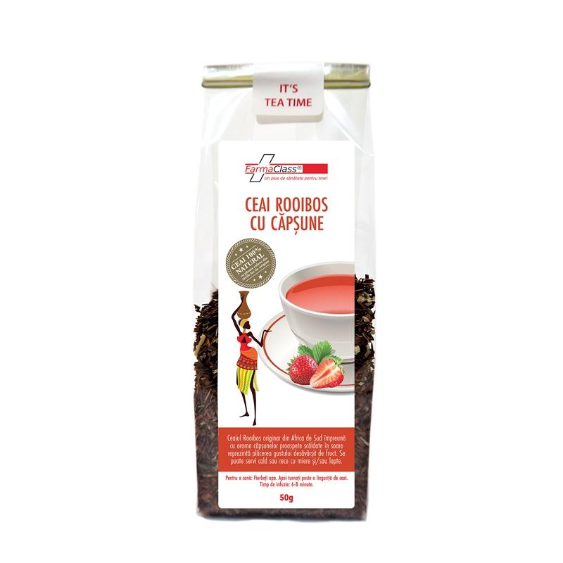 Ceai Rooibos cu capsune